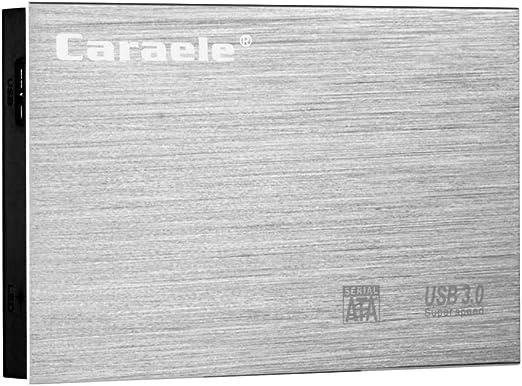 gazechimp 外付けハードディスクドライブ USB 3.0 HDD ポータブル 高速 モバイルディスクドライブ 金属製 シルバー - 1TB
