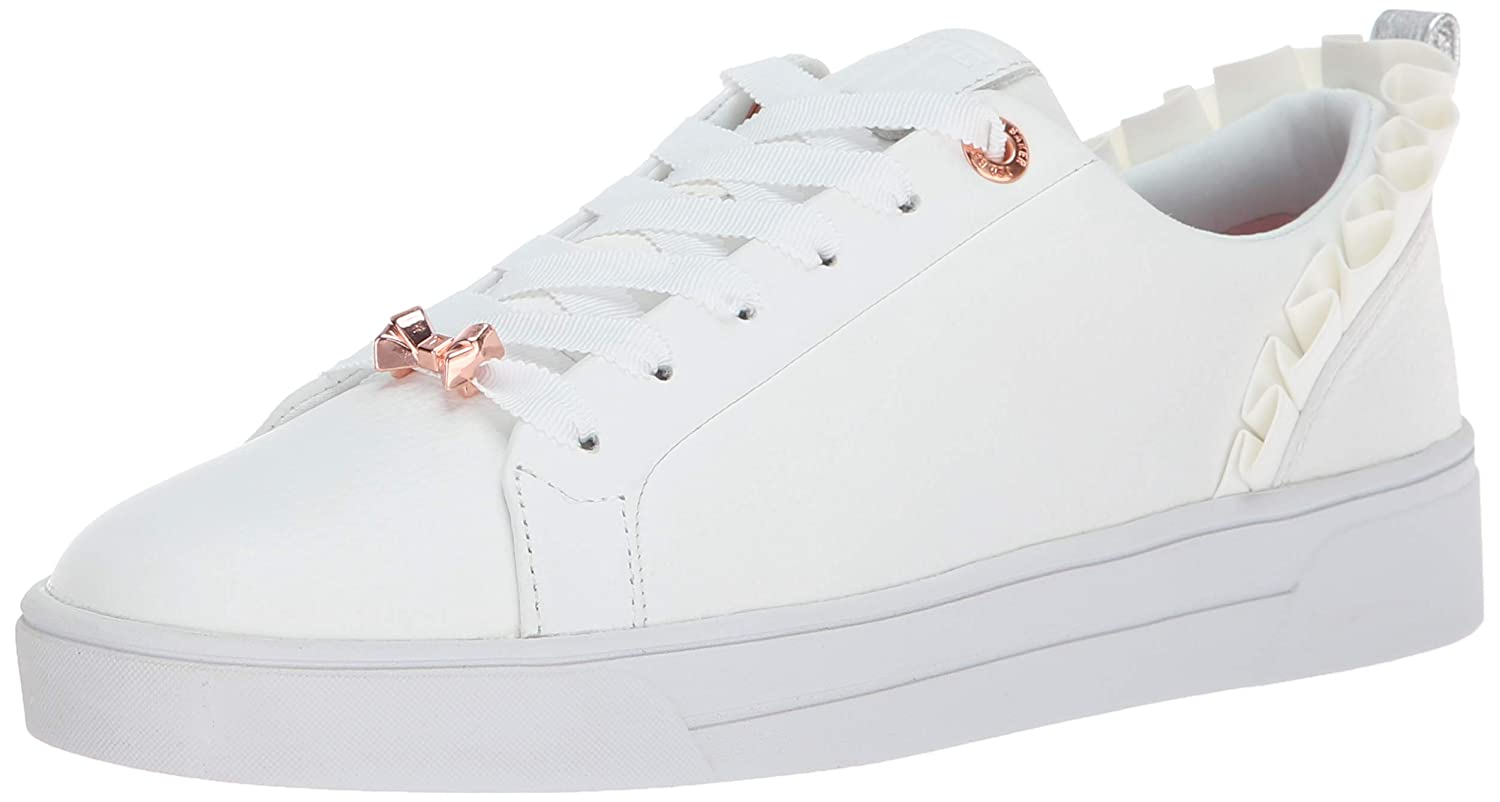 White Leather Ted Baker Womens Astrina Sneaker