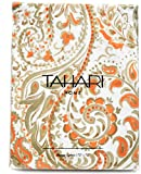 Tahari Hayden Paisley Cotton Fabric Shower Curtain