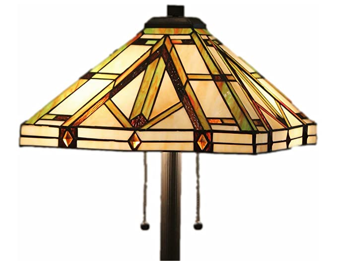 Delicieux Tiffany Style Stained Glass Table Lamp Golden Mission
