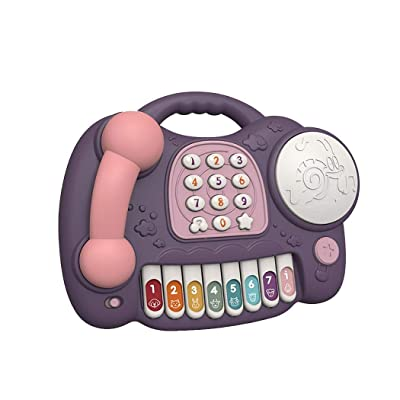 fukjem Cute Children Early Educational Musical Toys Simulation Phone Toy Music & Sound: Home & Kitchen [5Bkhe1101899]