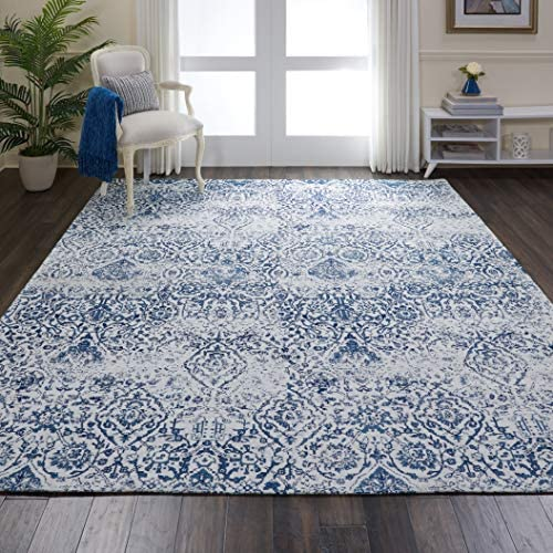 Nourison Damask Vintage Distressed Area Rug