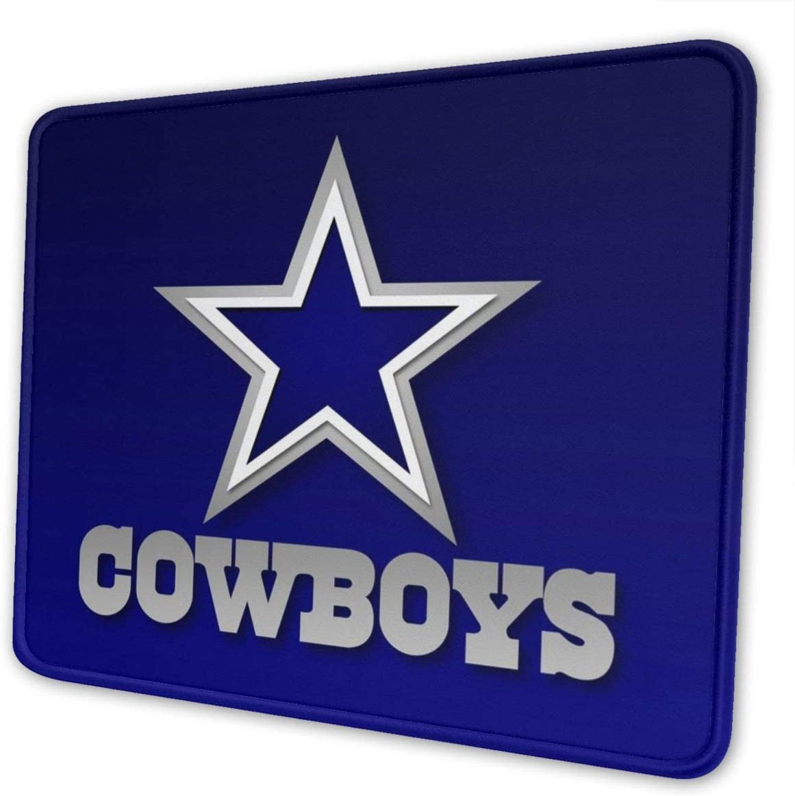 Dallas Cowboy Mouse Pad with Stitched Edge, Blue Customized Design Mousepad Non-Slip Rubber Large Gaming Mouse Pad for Laptop, Computer & Office, 11.8 X 9.8 X 0.12Inch