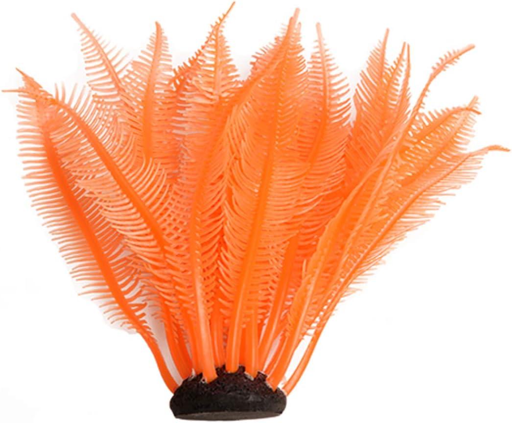 Quickun Artificial Coral Plants Ornament Glowing Effect Silicone Artificial Decorations for Fish Tank, Aquarium Decor Plant Landscape