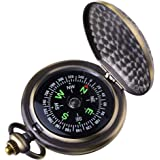 Kakuru Vintage Pocket Compass for Kids Classic Portable Compass Accurate Waterproof for Hiking Outdoor Camping Motoring…