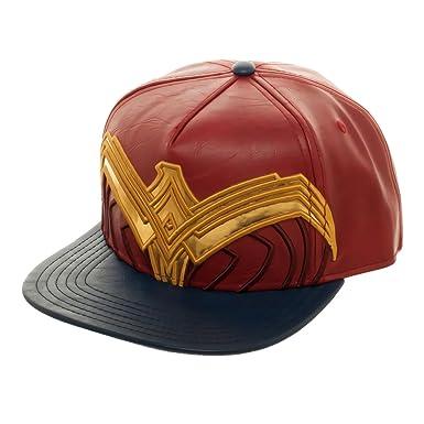 f7917c7e945 Wonder Woman Suit Up Applique Snapback Baseball Hat  Amazon.in ...