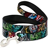 "Buckle-Down Pet Leash - Marvel Avengers Superhero/Villain Poses - 4 Feet Long - 1.5"" Wide"