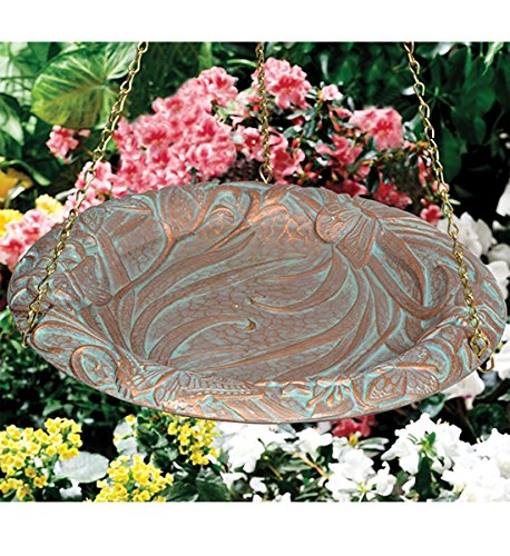 Whitehall Products Butterfly Hanging Birdbath, Oil Rub Bronze