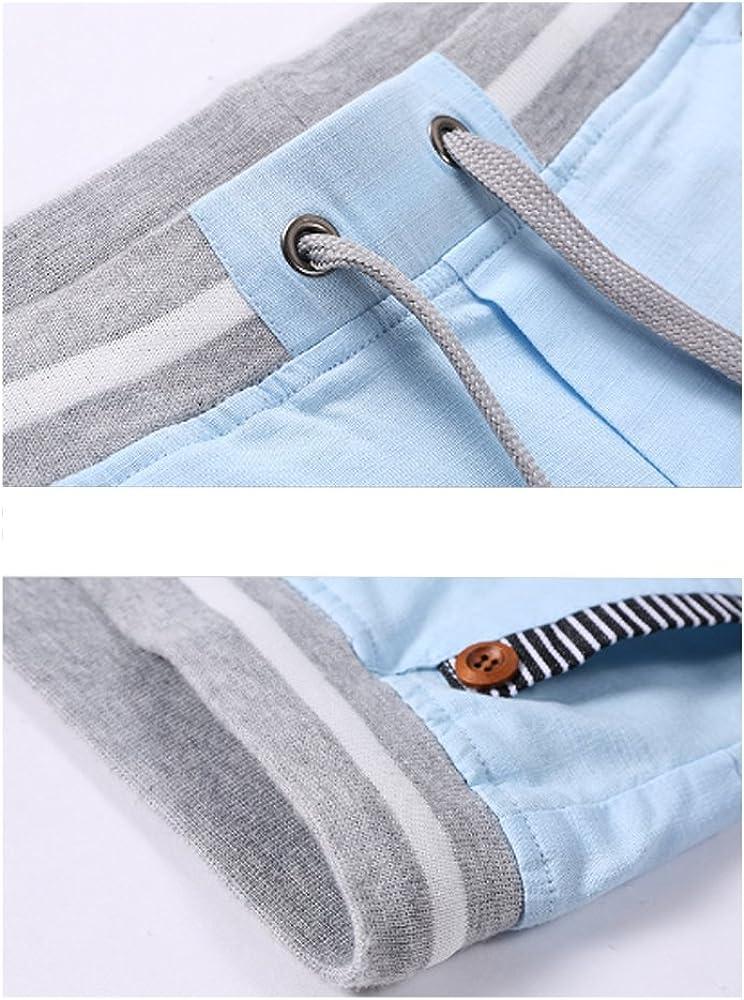 ZONGMIC con coulisse tessuto confortevole elastico in vita in Lino Bermuda da Uomo