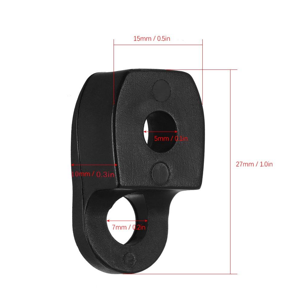 Lixada 50PCS Kayak D Ring Single Eyelet Tie Down Loop Safety Deck Fitting