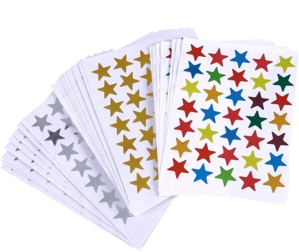 KLYNGTSK 200 PCS Autocollants en Mousse de Paillettes Stickers Mousses Color/és Gommettes Mousse Autocollantes Coeurs /Étoiles Stickers Paillettes pour Enfants Artisanat DIY Albums