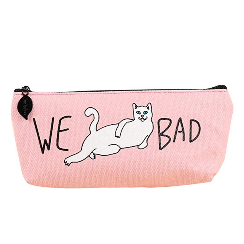KFSO Bolso para lápices, gatos malos, regalo para niños, escuela, estuche con cremallera para cosméticos, maquillaje, bolso de almacenamiento: Amazon.es: ...
