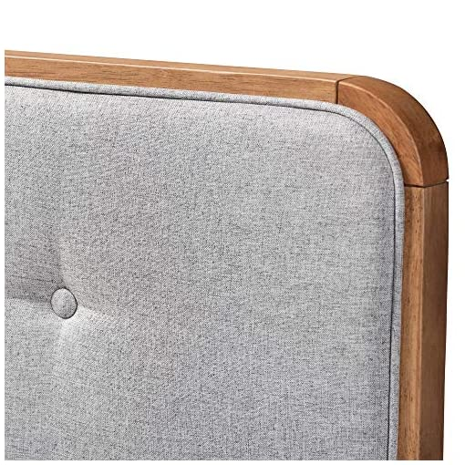 Bedroom Baxton Studio Headboards, King, Gray/Walnut modern headboards