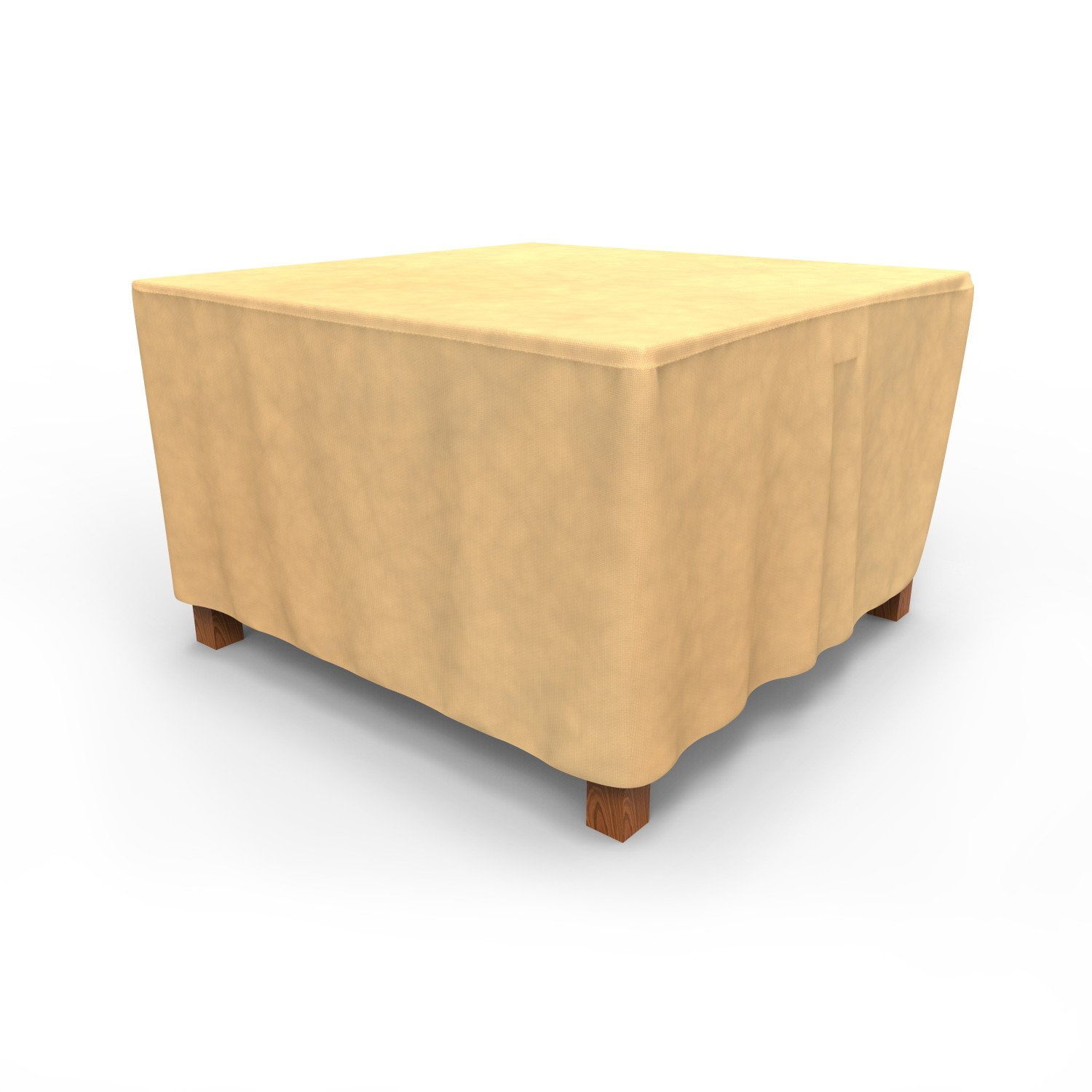 Budge P5A09SF1 All-Seasons Square Patio Table Cover, Medium, Tan by Budge