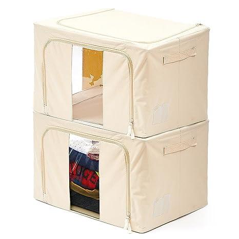 EZOWare Caja de Almacenaje 59L,Caja de Ropa, Caja para Juguetes, Organizador de