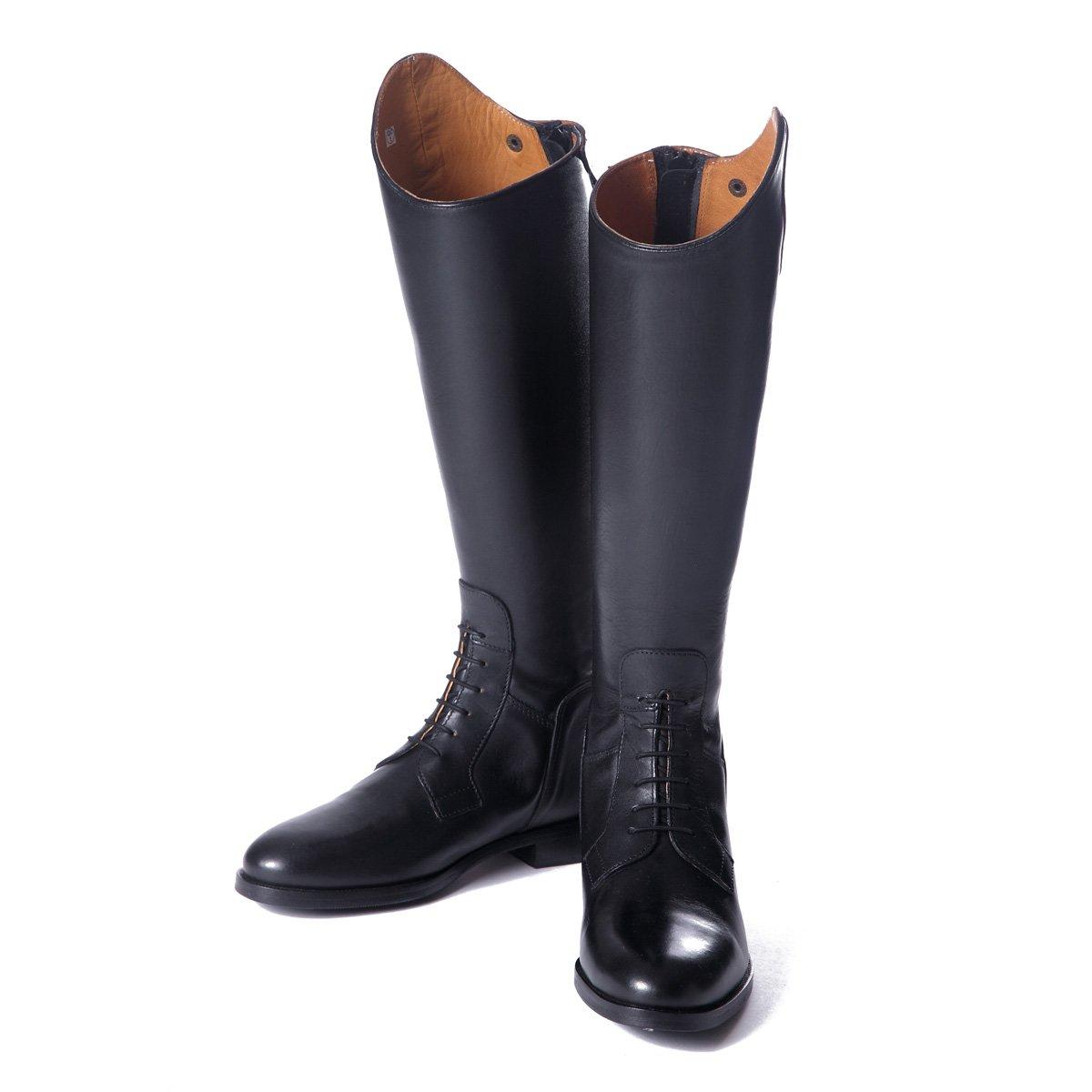 Shires Norfolk Field lang Leder Stiefel Reitstiefel mit mit mit Schwarz Geschnürt Regular a7b991