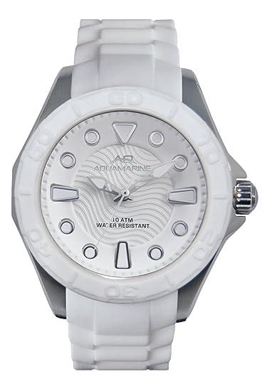 8e30f2110282 Aquamarine Reloj Hombre Colección Blanco-Verano de 2016  Amazon.es  Relojes