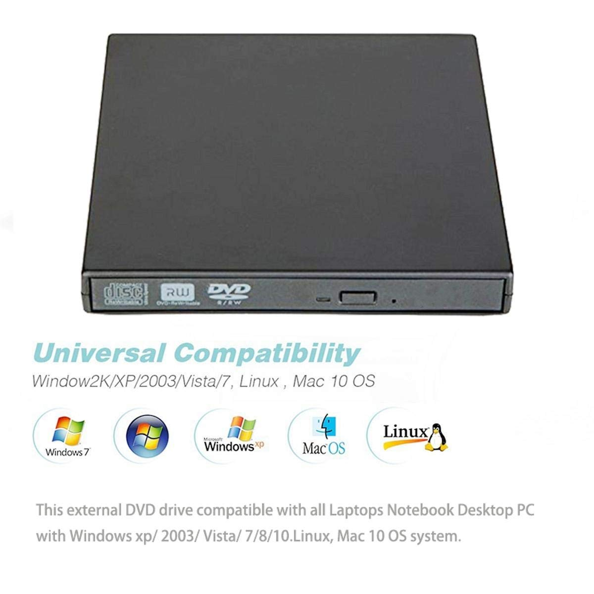Amazon.com: DoubleYi USB 2.0 externo CD±RW DVD±RW quemador ...
