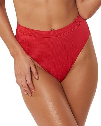 Red Carter Womens Skylark High Waist High Leg Bikini Swim Bottom BHFO 3094