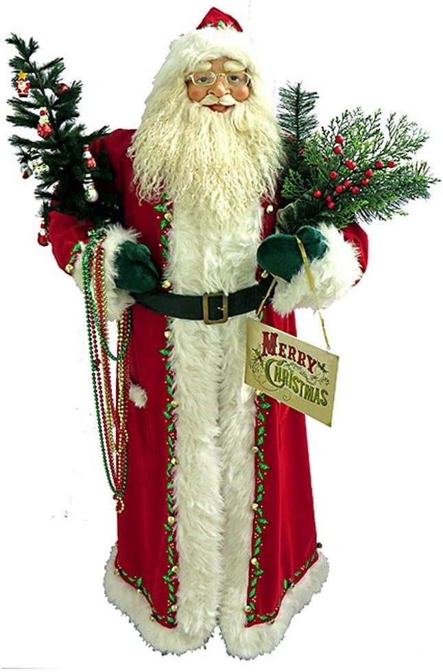 Santa's Workshop 7779 サンタ、高さ60インチ、レッド