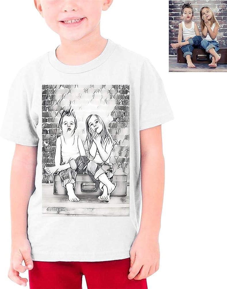 Personality Fashion Summer T-Shirt Teen Children Boys Girls Round Neck Custom Photo T-Shirt Graduation Gift Birthday Gift