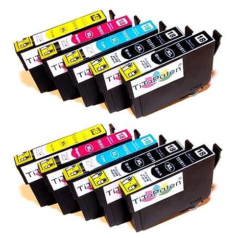 10x Epson Expression Home XP - 215 kompatible XL Druckerpatronen - 4xSchwarz-2xCyan-2xMagenta-2xGelb - Patrone MIT CHIP !!!