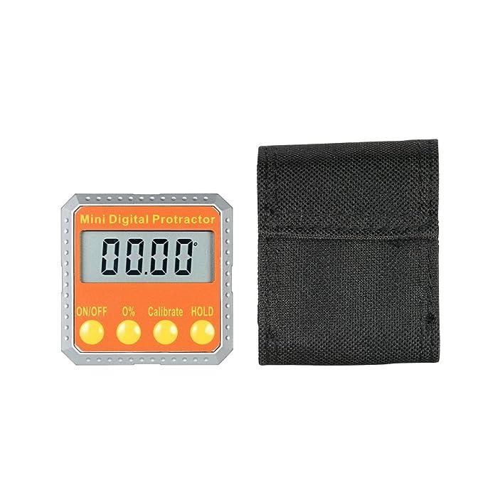 d9cae9a6a5dd Amazon.co.jp: KKmoon ミニ デジタル 分度器 レベル/ベベルゲージ/角度計/アングルメーター 2軸 内蔵マグネット付き:  ホーム&キッチン