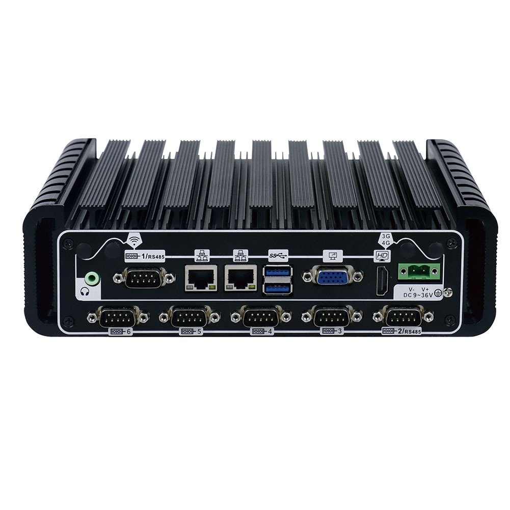 2019新作モデル Fanless Industrial PC 6 128G Rugged Computer IPC Mini RAM PC Windows 10 Pro/Linux with Intel Quad Core J1900 6 COM 2 Intel LAN 4G RAM 128G SSD Partaker I15 B07CVZ8K29 8G RAM 240G SSD|10 COM+I5 4200U 10 COM+I5 4200U 8G RAM 240G SSD, 現場監督:744ad144 --- arbimovel.dominiotemporario.com