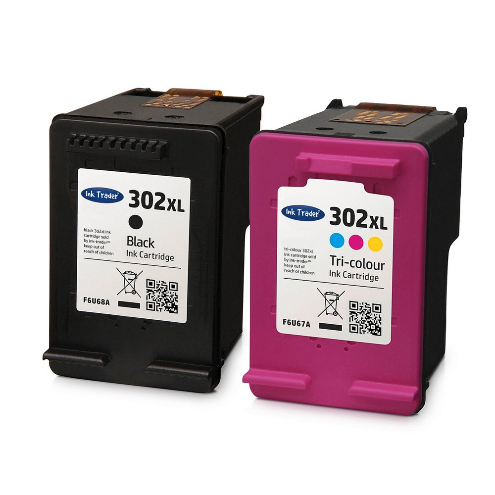 Cartuchos reciclados Ink Trader de tinta negra y de color HP 302XL ...