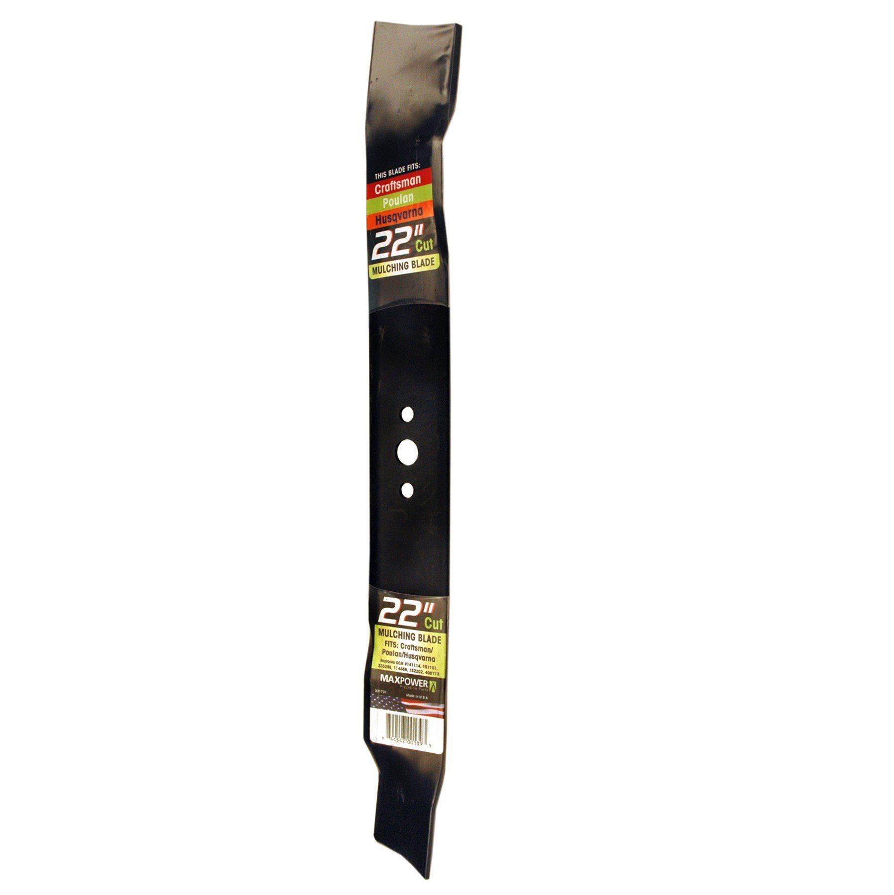 Maxpower 331731S Mulching Blade for 22 Inch Cut Poulan/Husqvarna/Craftsman Replaces 141114, 157101, 406713, 406713X431, 532141114, 532406713 by Maxpower