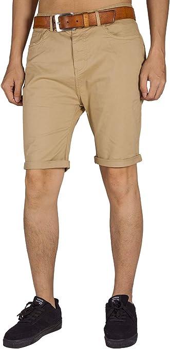 ITALY MORN Pantalones Chinos Cortos de Corte Slim Hombres Bermudas Shorts