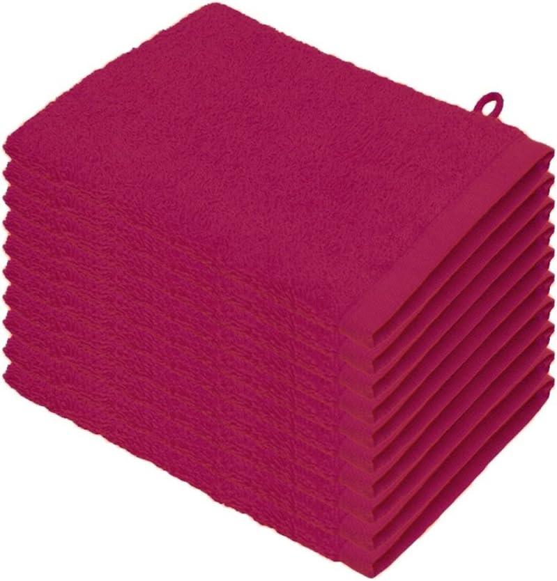 Pink 15 x 21 cm colori assortiti Set di 10//20 lavette 100/%  cotone 10 pezzi