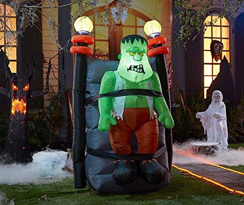 Inflatable Shaking Halloween Frankenstein Monster - 5 Feet Tall - Animated Shaking