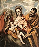 Greco El Holy Family 3 100% Hand Painted Oil Paintings Reproductions 48X72 Inch