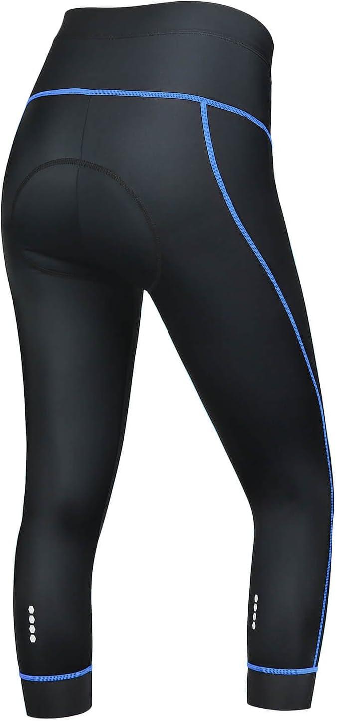 SKYSPER Pantalones Mallas de Ciclismo para Mujer 3/4 Culotte ...