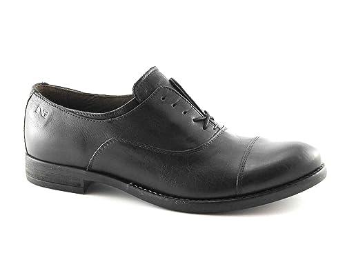 NERO GIARDINI 16140 nero scarpe donna francesina puntale pelle