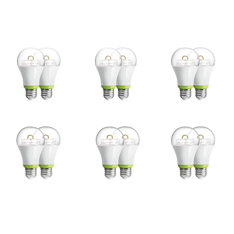 12-Pack GE Link Smart LED Light Bulb, A19 Soft White (2700K), 60-Watt Equivalent, Zigbee, Compatible with Alexa