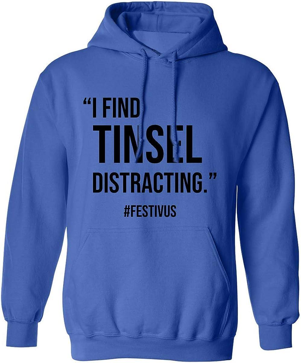 zerogravitee I Find Tinsel Distracting Adult Hooded Sweatshirt
