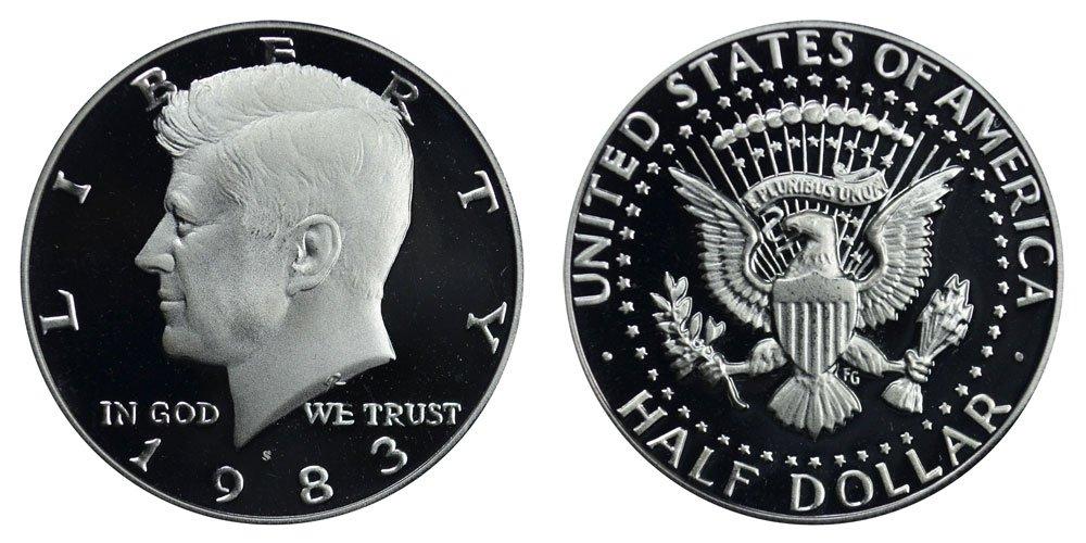 1980 S Gem Proof Kennedy Half Dollar US Coin 1//2 DCAM US Mint