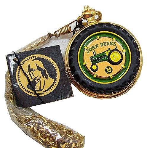 John Deere Pocket Watch Tractor Model B Franklin MInt Collectible Pocketwatch -  FMB11YQ16-PO