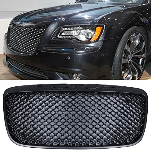Chrysler 300 Front Grill (11-12 Chrysler 300 300C Bentley Style ABS Black ABS Front Mesh Grill Grille)