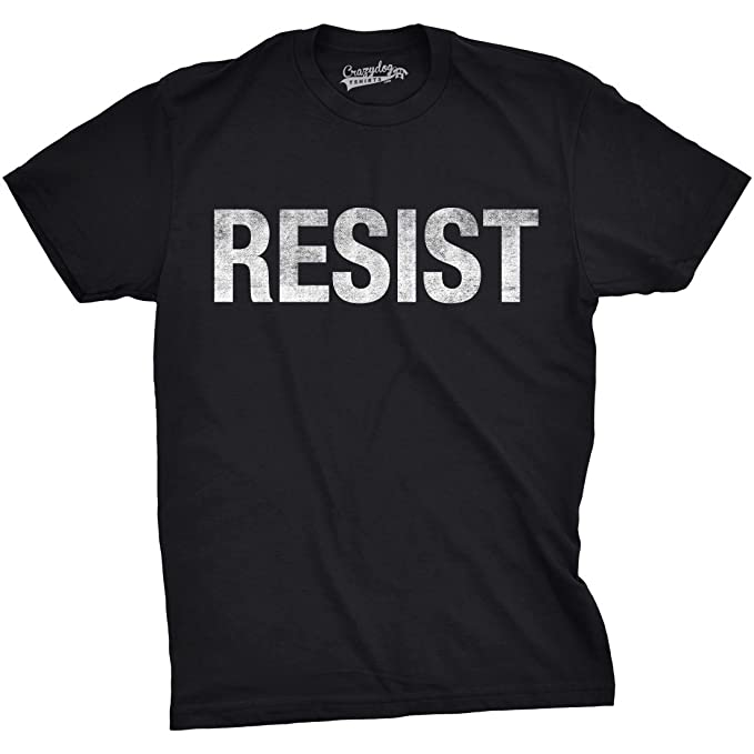 582838df3 Mens Resist Tee United States of America Protest Rebel Political T Shirt ( Black) -