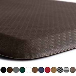 """KANGAROO BRANDS Original 3/4"""" Anti Fatigue Comfort Standing Mat Kitchen Rug, Phthalate Free, Non-Toxic, Waterproof, Ergonomically Engineered Floor Pad, Rugs for Office Stand Up Desk, 32x20 (Brown)"""