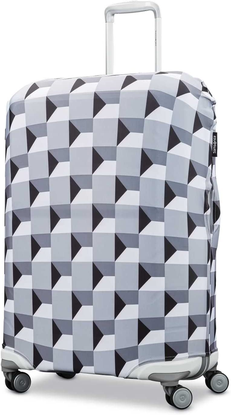 Samsonite Printed Luggage Cover, Infinity Grey, Extra Large