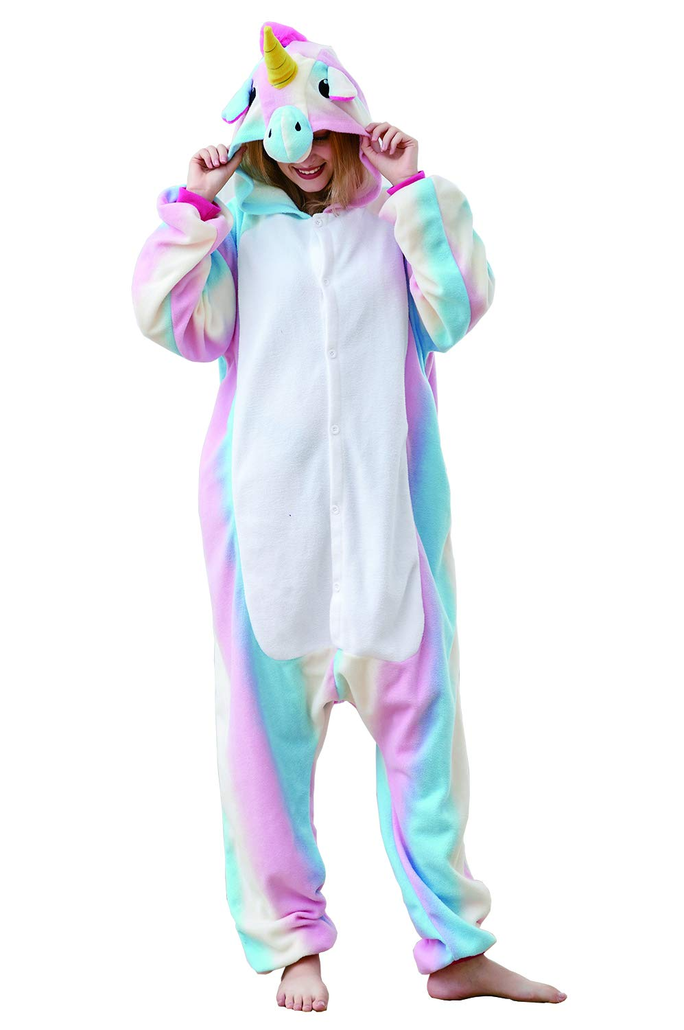 Unisex Adult Cute Animal Pajamas Onesies,One-Piece Cosplay Costume Jumpsuit Outfit XL by Mybei (Image #2)