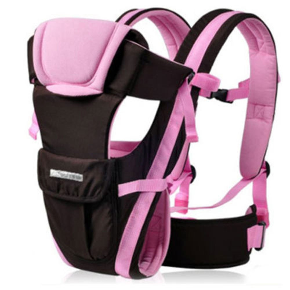 Khaki CdyBox Adjustable 4 Positions Carrier 3d Backpack Pouch Bag Wrap Sling Front Back Newborn Baby Infant