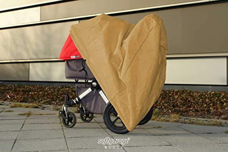 Levoberg Universal Double Pushchair Rain Cover with Attachment Buckle and Rain Cover