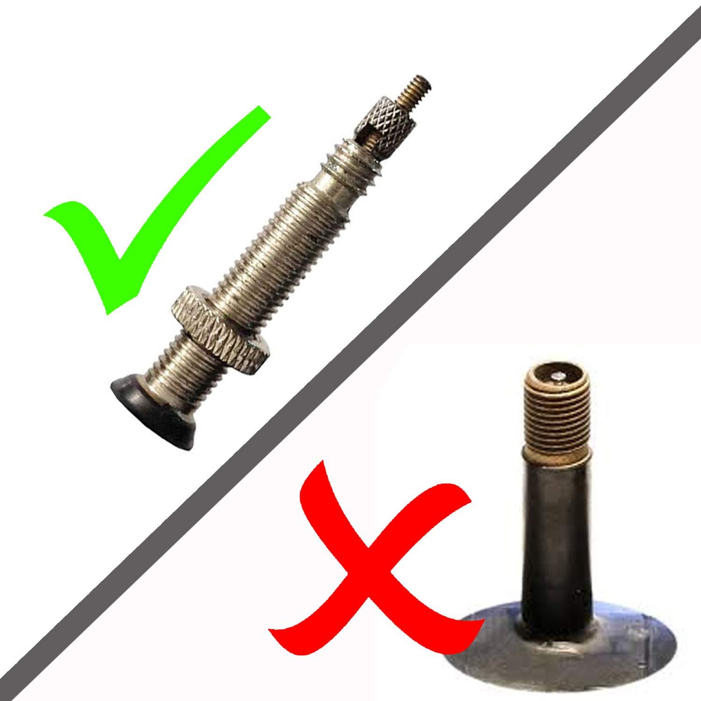 Set de 4/Compatible con De alta calidad de aleaci/ón de anodizado tapones para v/álvulas de bicicleta no apto para coches