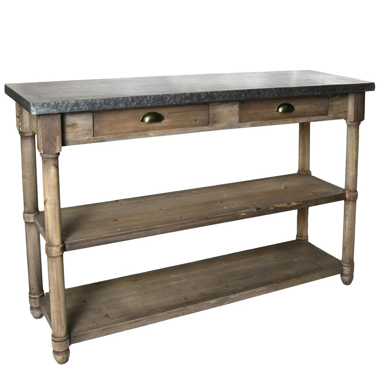 Amazoncom My Swanky Home Rustic Cottage Zinc Top Buffet Console