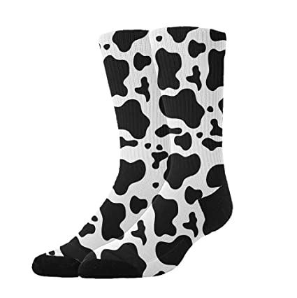 fe83b768c9a Amazon.com  Jinkela Womens Thigh High Cotton Socks Cow Print Pattern Tube Stockings  Above Knee Cosplay Socks  Home   Kitchen